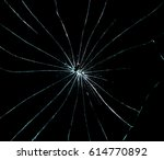 broken glass dark background | Shutterstock . vector #614770892