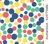seamless pattern. multi colored ... | Shutterstock .eps vector #614775686