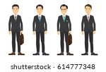 group of business men   working ... | Shutterstock .eps vector #614777348