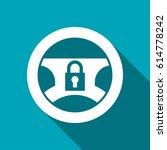 locked steering wheel vector... | Shutterstock .eps vector #614778242