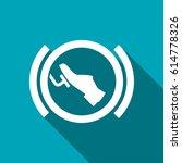 press break pedal warning... | Shutterstock .eps vector #614778326