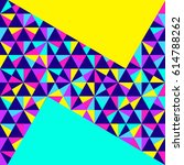 abstract geometric background ... | Shutterstock .eps vector #614788262