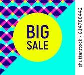 abstract big sale banner ... | Shutterstock .eps vector #614788442