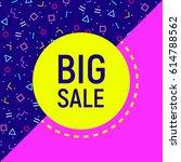 abstract big sale banner ... | Shutterstock .eps vector #614788562