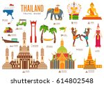 country thailand travel... | Shutterstock .eps vector #614802548
