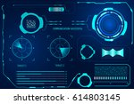 futuristic hud blue user... | Shutterstock .eps vector #614803145