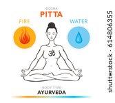 pitta dosha   ayurvedic... | Shutterstock .eps vector #614806355