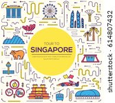 country singapore travel... | Shutterstock .eps vector #614807432