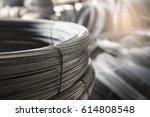 stainless steel wire rolls in... | Shutterstock . vector #614808548