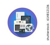 vector colorful flat design...   Shutterstock .eps vector #614812136