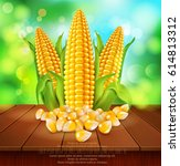 vector background with grains... | Shutterstock .eps vector #614813312