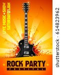 vector rock festival flyer... | Shutterstock .eps vector #614823962