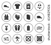 set of 16 clothing filled icons ... | Shutterstock .eps vector #614829326