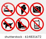 no smoking sign | Shutterstock .eps vector #614831672