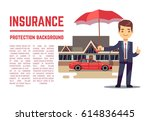 insurance vector concept with...   Shutterstock .eps vector #614836445