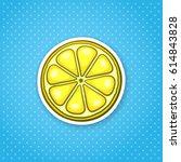 vector illustration. slice of... | Shutterstock .eps vector #614843828