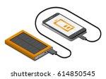 vector isometric illustration... | Shutterstock .eps vector #614850545