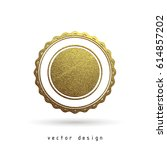 vector illustration. gold... | Shutterstock .eps vector #614857202