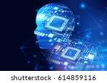 double exposure image of low... | Shutterstock . vector #614859116