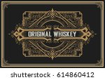 old whiskey label | Shutterstock .eps vector #614860412