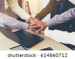 business people with their...   Shutterstock . vector #614860712
