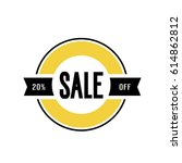 sale twenty percent off... | Shutterstock .eps vector #614862812