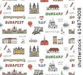 budapest hungary attraction... | Shutterstock .eps vector #614874008