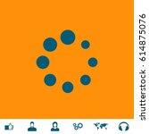 loading  streaming  buffering ... | Shutterstock .eps vector #614875076
