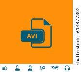 avi video file extension. blue...