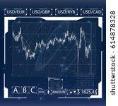 futuristic user interface.... | Shutterstock .eps vector #614878328