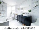 clean bright stylish designer... | Shutterstock . vector #614880632