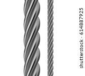 metal rope | Shutterstock .eps vector #614887925