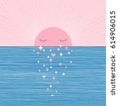 magical sunset  illustration... | Shutterstock .eps vector #614906015