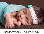 close up of beautiful newborn... | Shutterstock . vector #614908232