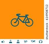 mountain bike. blue symbol icon ... | Shutterstock .eps vector #614908712