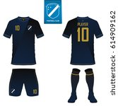 set of soccer kit or football... | Shutterstock .eps vector #614909162