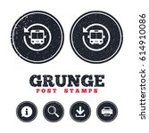 grunge post stamps. bus shuttle ... | Shutterstock .eps vector #614910086