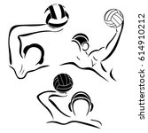 water polo player. water polo... | Shutterstock .eps vector #614910212