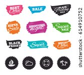 ink brush sale banners and... | Shutterstock .eps vector #614910752