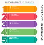 infographics element abstract... | Shutterstock .eps vector #614912192