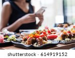take photo japanese food | Shutterstock . vector #614919152