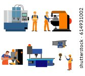 the process of working people... | Shutterstock .eps vector #614931002