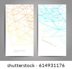 abstract geometric background.... | Shutterstock .eps vector #614931176
