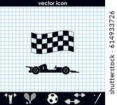 race car icon. | Shutterstock .eps vector #614933726
