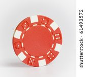 red poker chip isolated on... | Shutterstock . vector #61493572