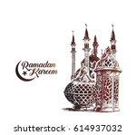 eid mubarak celebration ... | Shutterstock .eps vector #614937032