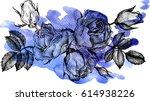 vintage vector floral...   Shutterstock .eps vector #614938226