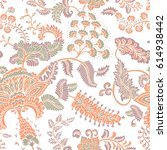 seamless pattern with fantasy... | Shutterstock .eps vector #614938442