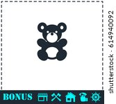 teddy bear icon flat. simple... | Shutterstock . vector #614940092