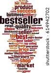 bestseller word cloud concept.... | Shutterstock .eps vector #614942702